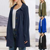 Women's Raincoat Lightweight Waterproof Outdoor Hooded Long Rain Jacket Coat