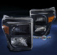 2011-2016 FORD F-250 F-350 F-450 F-550 SUPER DUTY CRYSTAL HEADLIGHTS LAMP BLACK