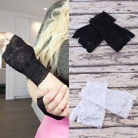 Women Fingerless UV-proof Driving Gloves Wedding Bridal Gloves Short Lace Gloves