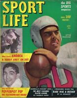 1949 Sport Life Magazine Football Otto Graham Cleveland Browns, Stan Musial~ Gd