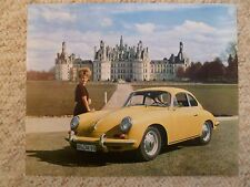 1964 Porsche 356 B T6 Coupe Showroom Advertising Sales Poster RARE! Awesome L@@K