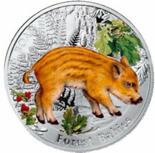 Niue 2014 1$ Wild Boar Forest Babies Proof Silver Coin