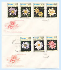 Nicaragua 1981 #1114-19 C981 Aquatic Flowers FDC First Day Covers Topical