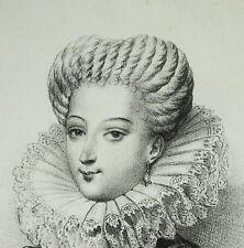 Gabrielle d ' Estrées la casi Reina amante y favorita Enrique IV c1840