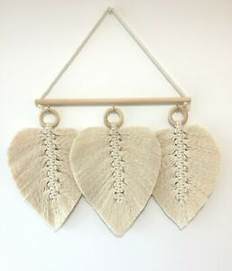Macrame Leaves Trio - Wall Hanging, Home Decor (Handcrafted In Canada)
