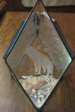 tea light holders glass wolf reflective