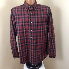 Vtg Sir Pendleton Button Down Wool Shirt Authentic McPherson Red Tartan Size M