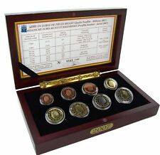 Belgien KMS 2007 König Albert 3,88 Euro 1 Cent bis 2 € Polierte Platte im Etui