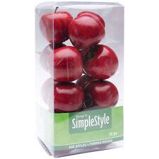 Floracraft Design es einfach dekorative Früchte 15/pkg - Mini rote Äpfel