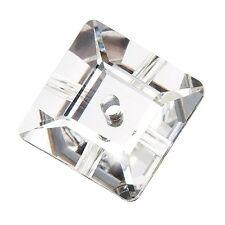 144 Pietre in Cristallo QUADRATE da cucire a 1 foro - mm 6 CRYSTAL