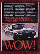 1983 Print Ad Toyota Supra Car Automobile ~ Racing Driver Dan Gurney