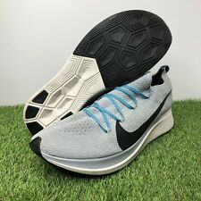 Nike Zoom Fly Flyknit Running Shoes Wolf Grey/Blue Fury AR4561-004 Men's Size 13