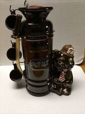 Vintage Novelty Bar Shot Glass Holder With Fire Extinguisher And Bear