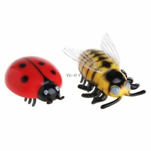 Electric Battery Powered Cat Toy Ladybird Beetle Electronic Cute Cat Moving Toys