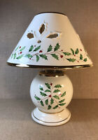 Lenox Holiday Ceramic Candle Holder With Shade