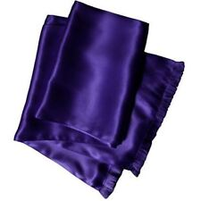 Royal Silk® Deep Purple Aviator Scarf 2-layer Satin Silk