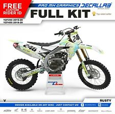 YAMAHA YZF 250 2019 2020 YZF 450 2018 2020 MX Graphics Decals Stickers Decallab
