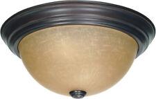 Nuvo 60/3106 Signature 2 Light 13 inch Mahogany Bronze Flushmount Ceiling Light