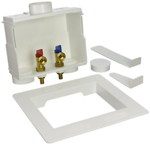 Eastman 60245 Washing Machine Outlet Box with Double Drain, 1/2-inch Crimp PEX