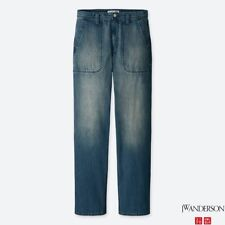 JW Anderson x Uniqlo Mens JWA Baker-Style Denim Relaxed Fit Work Pants NEW 33x34