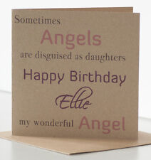 Special Daughter Birthday Card.  Personalised Angel Card Very Special Daughter.