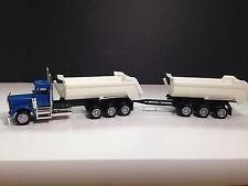HO 1/87 Promotex Herpa # 6427 KW W900 Classic Dump Truck w/ Trailer - Blue
