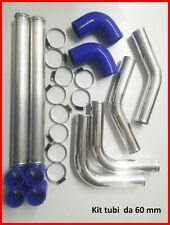 Kit tubi intercooler universale in alluminio silicone 60 MM manicotto tuning blu