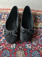 WOMENS / GIRLS FLAT SUMMER BALLET PUMPS DOLLY SHOES SIZE 5 38 BLACK