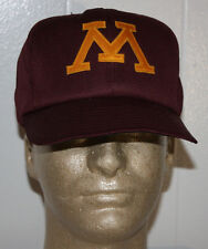 Vintage 80s Minnesota Gophers Baseball Snapback Hat Cap 6 3/4 - 7 1/8 Pro Model