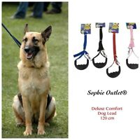 Strong Flat Nylon 120cm Dog Lead Puppy Pet Leash Comfort Grip Handle Clip Collar