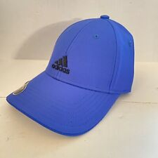 Boys Adidas Hat Cap Blue Logo Youth Fit Adjustable 'Decision' New