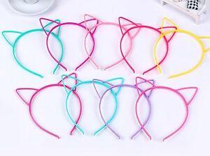 10 Mixed Color Plastic Cat Ear Hair Tiara Princess Headband Hair band With Teeth