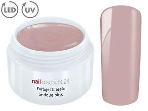 Color UV Gel LED FARBGEL ANTQUE PINK  French Modellage Nail Art Design Nagel Tip