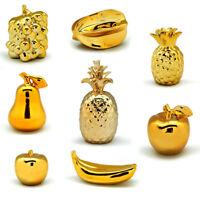 Exklusive Obst Deko Gold Keramik Ananas Tischdeko Skulptur Vergoldet Apfel Birne