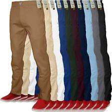00c28f897 Mens Chino Classic Regular Fit Trouser Casual Stretch Spandex Pants Size  32-40