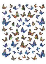 Metallic Nagel Sticker Schmetterling Butterfly Nailwrap Nageldesign Nailart