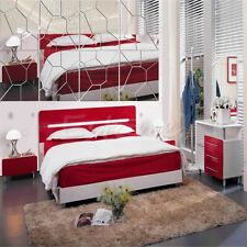 7Pcs New Moire Pattern Mirror Removable Decal Art Mural Wall Sticker Home Decor