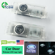 No Drill LED Door Step Laser Projector Logo Ghost Shadow Lights For Land Rover
