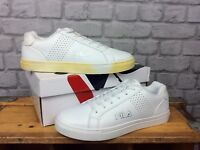 FILA MENS UK 8 EU 42 WHITE CROSS COURT 2 TRAINERS
