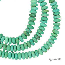 """16"""" Natural Chinese Turquoise Rondelle Beads 6mm Sky Blue #82209"""