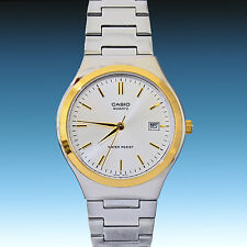 Casio MTP-1170G-7A Mens Gold Analog Stainless Steel Band Date Display Watch New