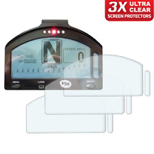 3 x HM Dash Race / Track Day Dashboard Speedo Screen Protector: Ultra-Clear