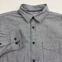 Mossimo Button Up Shirt Men's Size Medium Long Sleeve Gray Cotton Blend