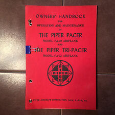 Vintage Piper Pacer PA-20-150 & Tri-Pacer PA-22-150 Owner's Handbook