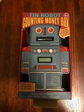 Brand NEW Tin Robot Counting Money Box Digital Display