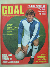 GOAL MAGAZINE NOVEMBER 16 1968 MIDDLESBROUGH - BLACKBURN - NEWCASTLE - CHELSEA
