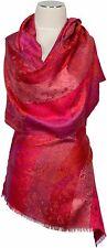 Pashmina Schal 100% Seide Pink Lila scarf 100% silk écharpe Paisley