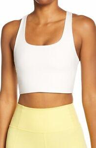 Girlfriend Collective Paloma Sports Bra Size S Color Ivory(16)