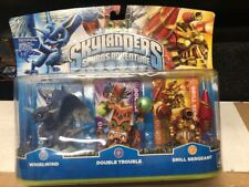 Skylanders Spyro's Adventure 3 Pack Whirlwind Double Trouble Drill Sergeant New