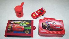 CARS THE MOVIE - LIGHTNING MCQUEEN WALLET AND COLLECTOR TIN WITH TOYS